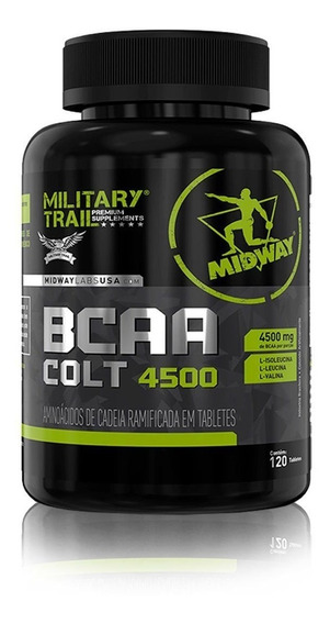 Bcaa Military Trail Colt Ultra Concentrado 120 Cáps - Midway