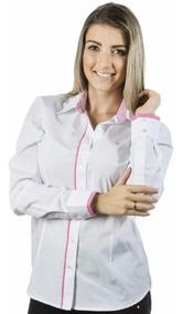 Blusas Brancas Sociais Femininas Manga Longa Pimenta Rosada
