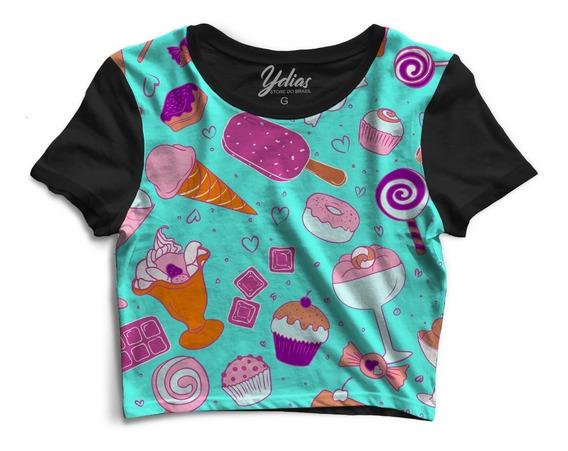 Cropped Love Ice Cream Candy Tumblr Feminino Ydias Top