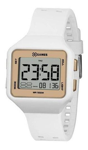 Relógio X-games Xlppd038 Bxbx Feminino Branco