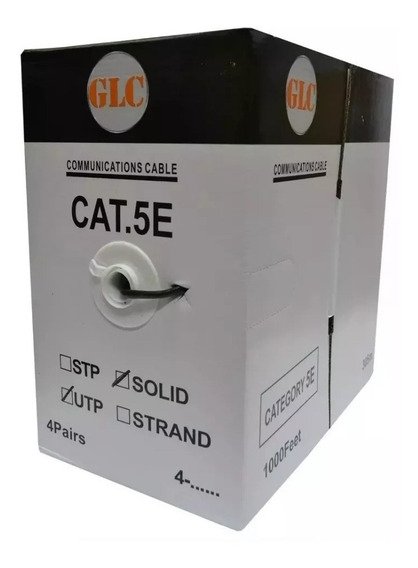 Bobina De Cable Utp Glc Cat5e Doble Vaina Exterior 305 Mts