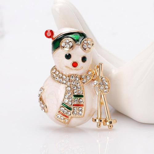 Muñeco De Nieve Broche