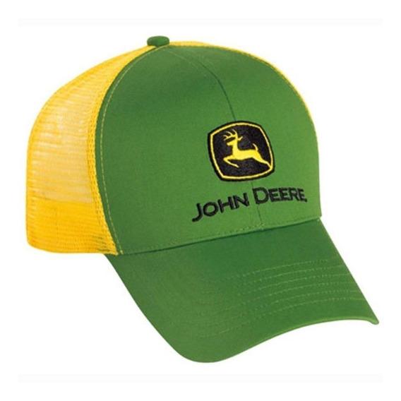 John Deere Malla Camionero Verde Amarillo Snapback Original