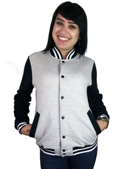 Jaqueta Top College Feminina Casaco Colegial Blusa De Frio