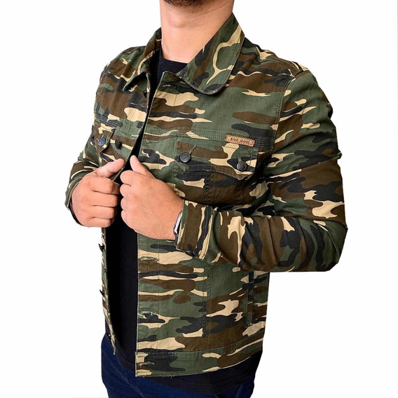 Jaqueta Masculina Militar Casaco Camuflado Slim Fit