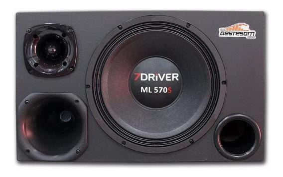 Caixa Trio 7 Driver Alto Falante Woofer Ml570 Similar Pionee