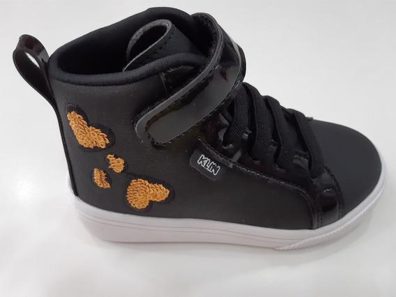 Tênis Sneaker Infantil Baby Moon Klin Preto Tam.23a27- 22115