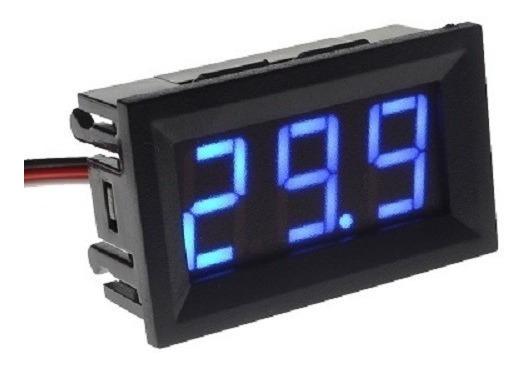 Voltímetro Digitos 3 P/painel Led Azul - 0-100v