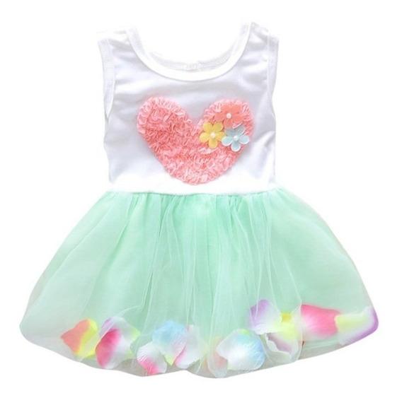 Vestido De Bebe Em Algodão Detalhes Floral 9 A 12 Meses