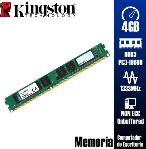 Memoria 4gb Ddr3 1333mhz Pc3-10600 Kingston Blister Sellada