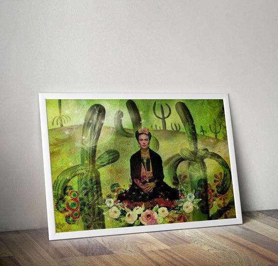 Frida Khalo Cacto Lamina Imprimible