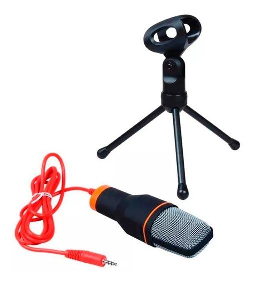 Microfone Condensador P2 De Mesa Gravação Vídeo Youtube T44