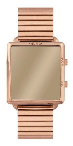 Relógio Euro Feminino Espelhado Rosê Fashion Fi Eujhs31baj4d