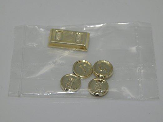 Lego - Cromo Del Oro Del Tesoro X4 Monedas De Oro X1 Lingote