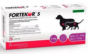 Fortekor 5 - Tratamento Novartis Cães E Gatos 28 Comprimidos