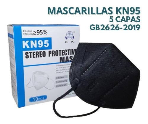 Imagen 1 de 3 de Mascarilla Kn95 Tapa Boca Respirador  Pack 10 Unidades
