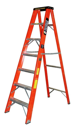 Escalera Tijera Fibra Vidrio 7 Pasos / 2.10 Metros 114 Kg