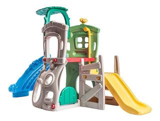 Juego Play Para Niños Jungla Doble Tobogan Escalar Explorar