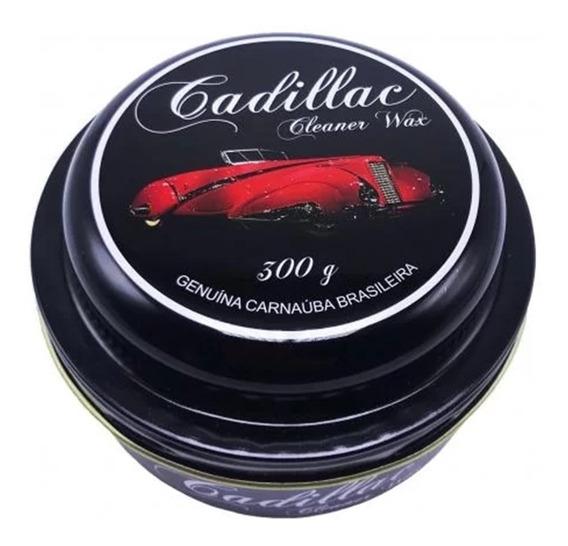 Cera De Carnaúba Cleaner Wax Cadillac Gold 300g Alto Brilho