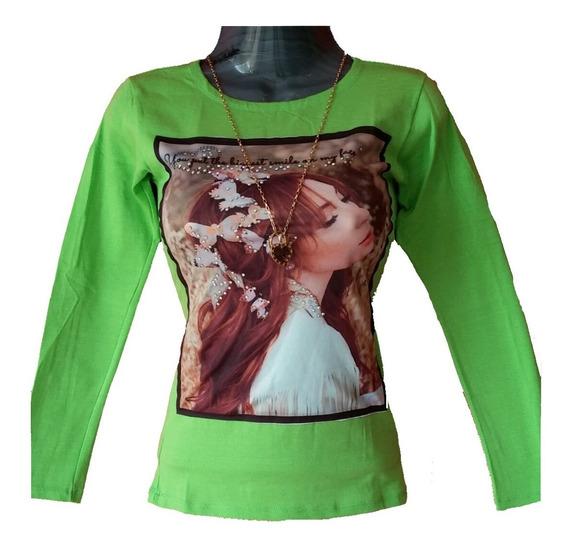 Blusas Camisas Dama Juvenil Talla Única Algodón Bodys Suéter