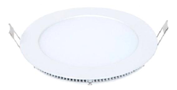 Painel Led Plafon Embutir Slim Redondo 18w Branco Frio