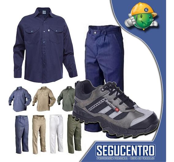 Kit Camisa Y Pantalon Grafa +zapatilla Trabajo Local Centro