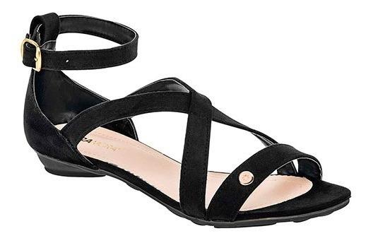 Sandalia Dama Huarache Negro Zapato Mujer 267 Casual