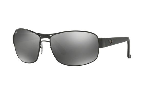 Óculos De Sol Ray Ban Rb3503l 006 (cinza, Preta, Espelhadas)