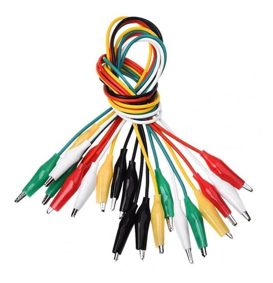 Juego De Cable Pinza Cocodrilo Conectores Clips Arduino