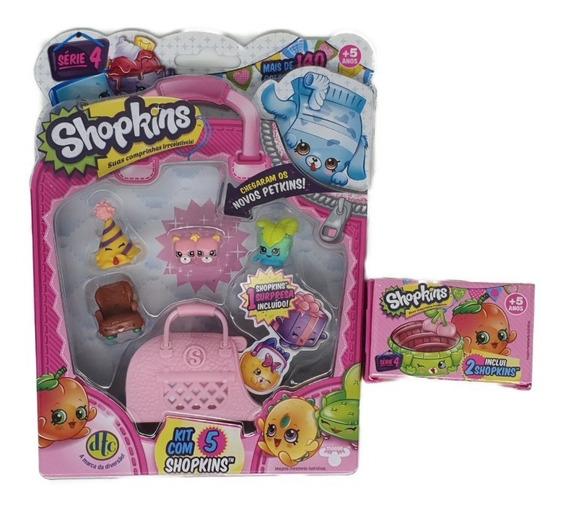 Shopkins Blister Kit Com 5 + 2 Sortidos Série 4 - 2 Dtc