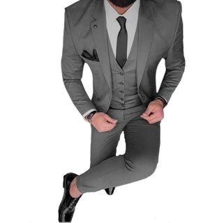 Zapatos Y Cinto De Vestir Con Traje Satinado Slim Fit Import