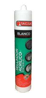 Sellador Acrilico Pintable Blanco 280ml Tacsa Pack X 10