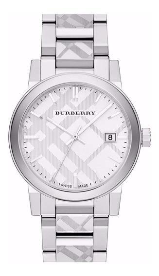 Reloj Burberry Swiss Zafiro Acero Inox Plata Mujer Bu9037