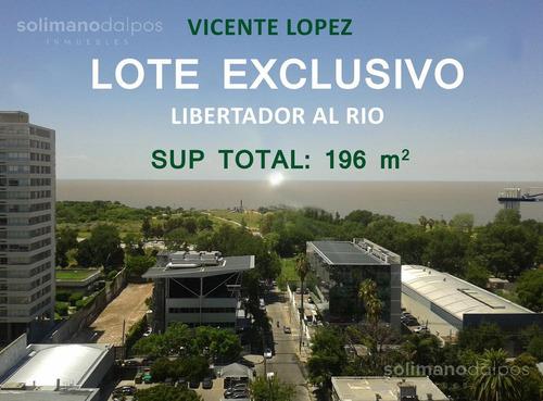 Exclusivo Lote Libertador Al Rio - V.lopez