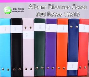 5 Albuns De Diversas Cores - 300 Fotos 10x15