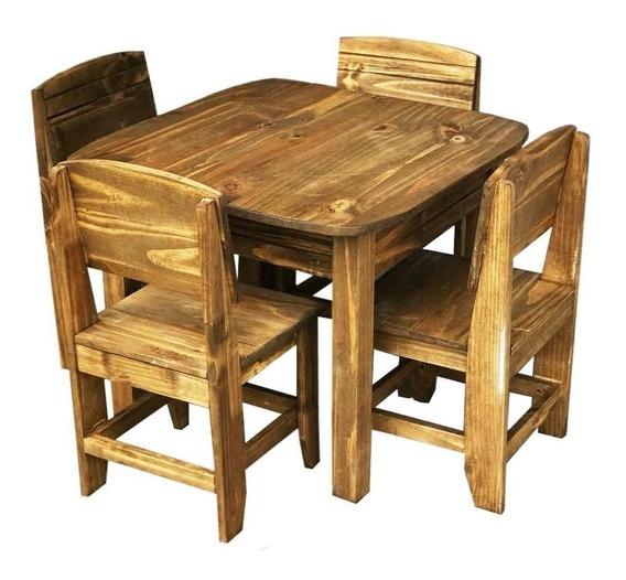 Jogo De Mesa Infantil Com 4 Cadeiras Móveis Rio Negrinho