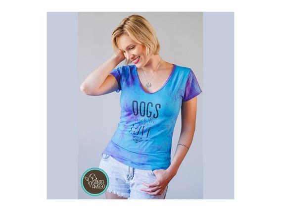 Camiseta Dogs Never Lie Pet Lover Especial Viscose Elastano