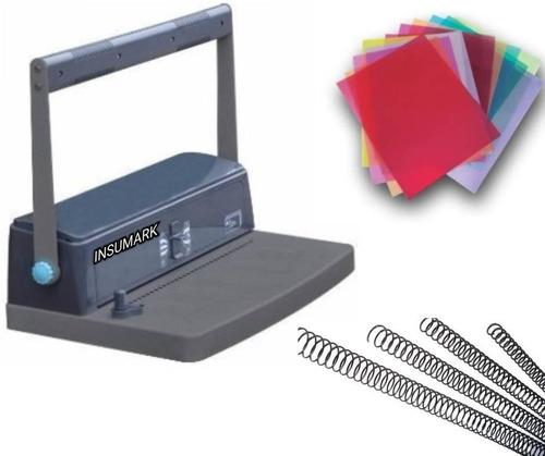 Anilladora Espiraladora Metálica A4 + Kit De Material