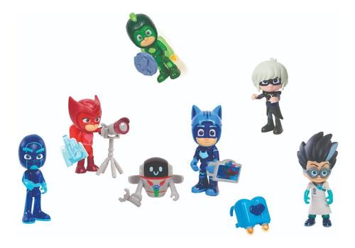Set Héroes En Pijamas Pj Masks + Accesorios 15 Piezas Luces