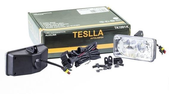 Kit Farol Auxiliar Retangular 15 Led Smd Bi-volts 12/24v