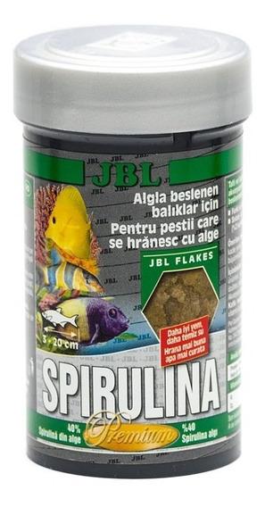 Ração Para Peixe Jbl Spirulina Premium 40g Algas Algueiros