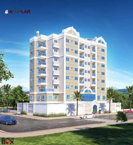 Apartamento Com 1 Suíte + 2 Demi Suites À Venda, 76 M² Por R$ 540.000 - São Francisco - Camboriú/sc - Ap1341