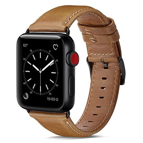 Para Apple Watch Banda 42 mm Ouheng Piel Auténtica Iwatc