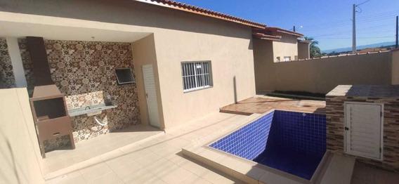 Casa Nova Com Piscina Lado Praia Em Itanhaém R$ 225 Mil!!