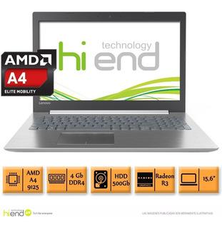 Notebook Lenovo 15.6 Amd A4 9125 4gb Ddr4 500gb Dvd Hi End