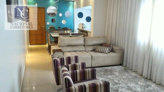 Cobertura Com 3 Dormitórios À Venda, 210 M² Por R$ 590.000,00 - Parque Das Nações - Santo André/sp - Co3115