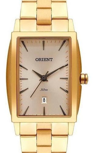 Relógio Orient Feminino Dourado Quadrado Lgss1015 C1kx