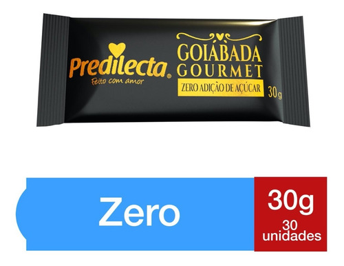 Goiabada Zero Açúcar Snack 30x30g Predilecta