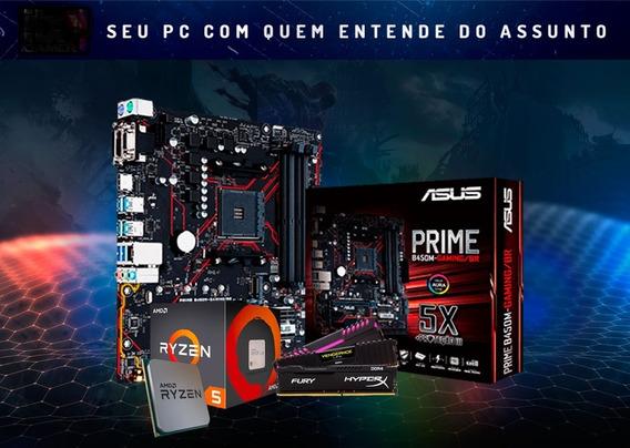 Kit Amd Ryzen R5 2400g + Asus B450m Gaming Br +8gb 2666