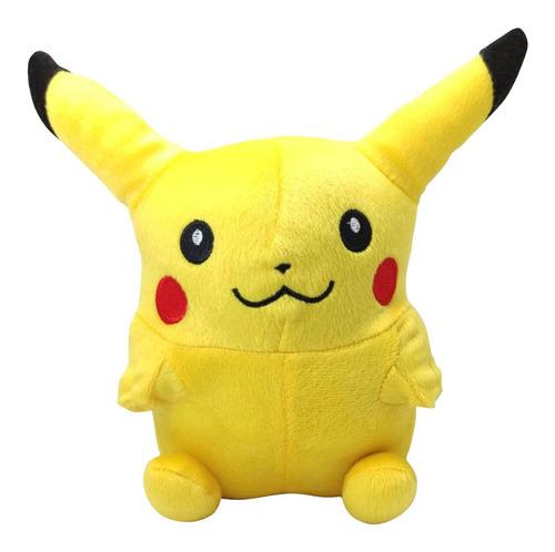 Imagen 1 de 3 de Peluche De Pikachu Juguete Pokemon Mide 23cm Anime
